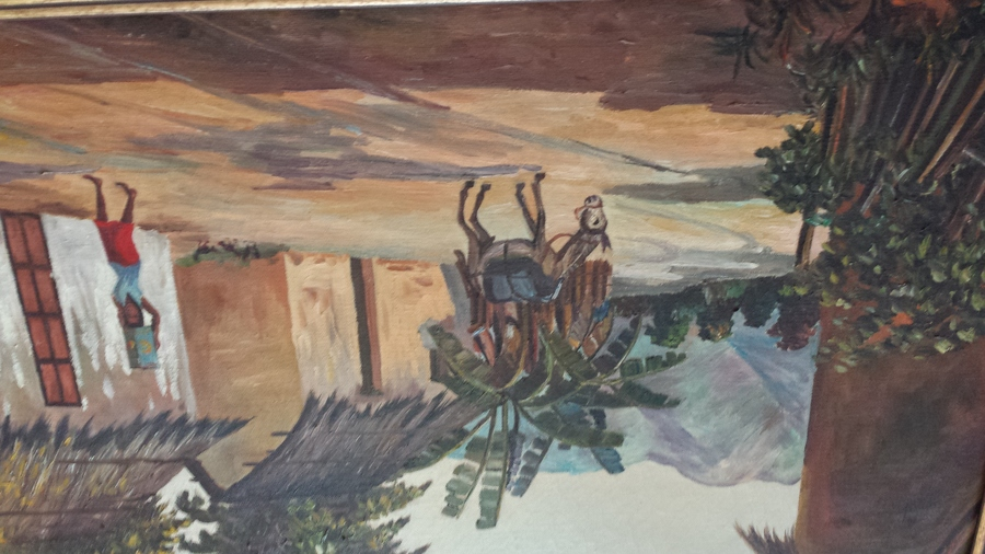 caribbean style oil painting by an artist i need help