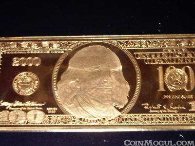 How Much 2000 0 Franklin Quarter Pound Golden Proof Worth
