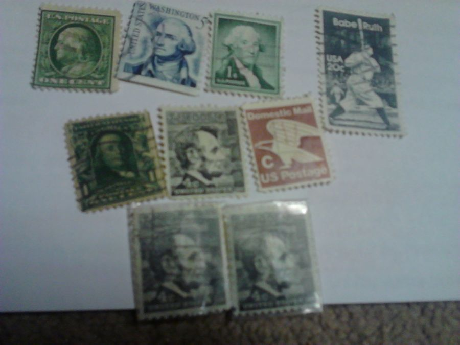 how much is a lincoln 4 cents stamp worth artifact collectors. Black Bedroom Furniture Sets. Home Design Ideas