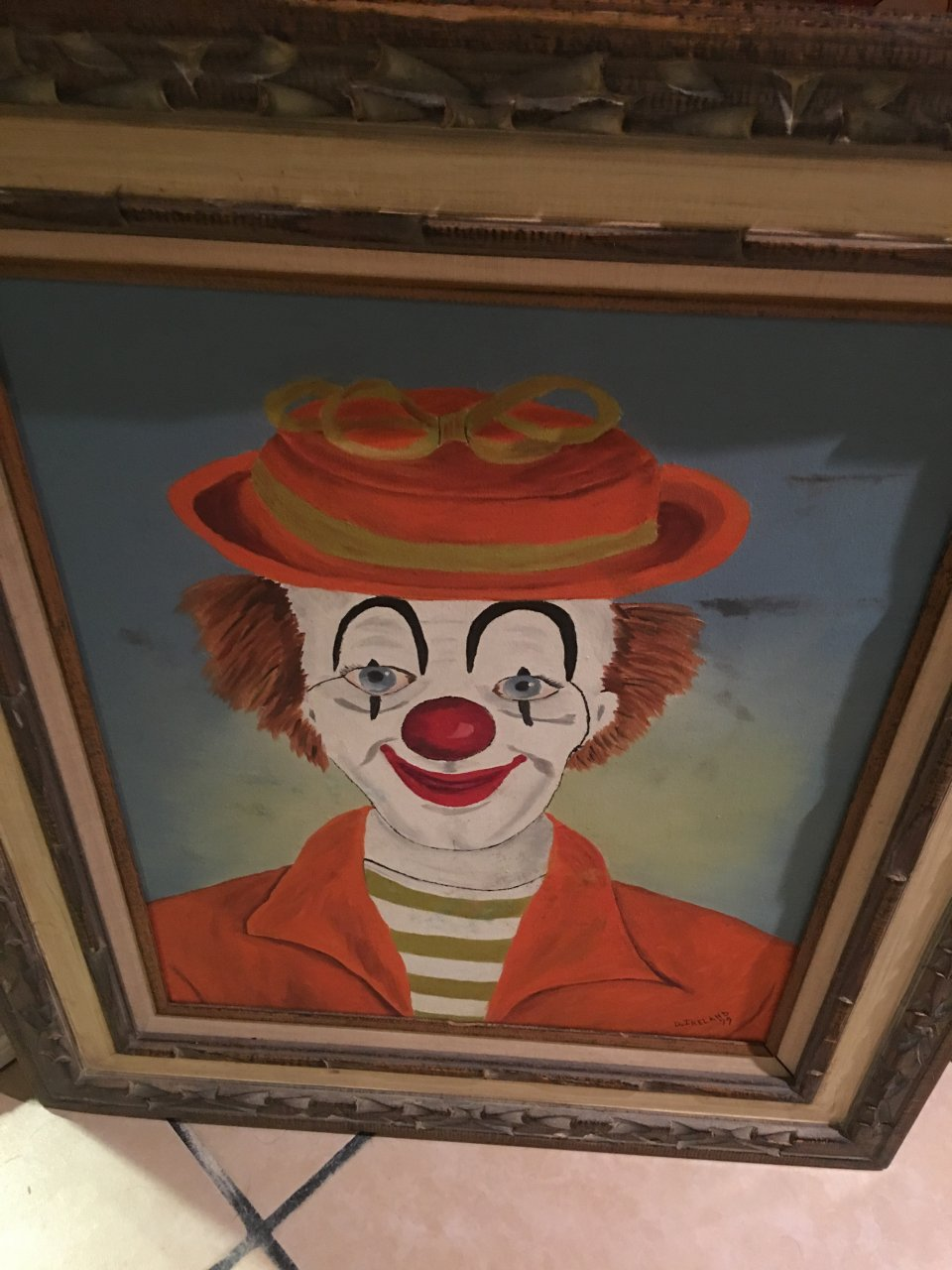I have a clown oil painting by dan ireland 1979 who much for How much is my painting worth