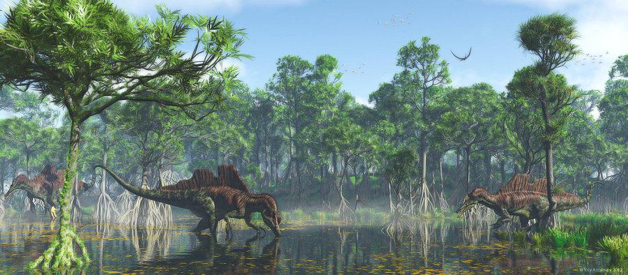 ichthyovenator in swamp.jpg