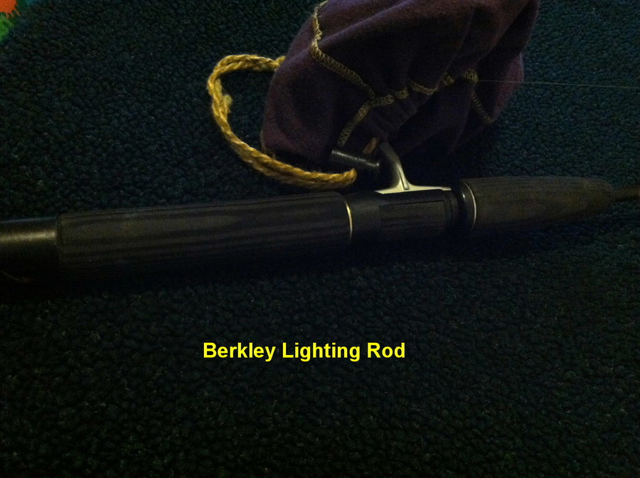 One way to help judge fishing rods look at the handle for Most expensive fishing rod
