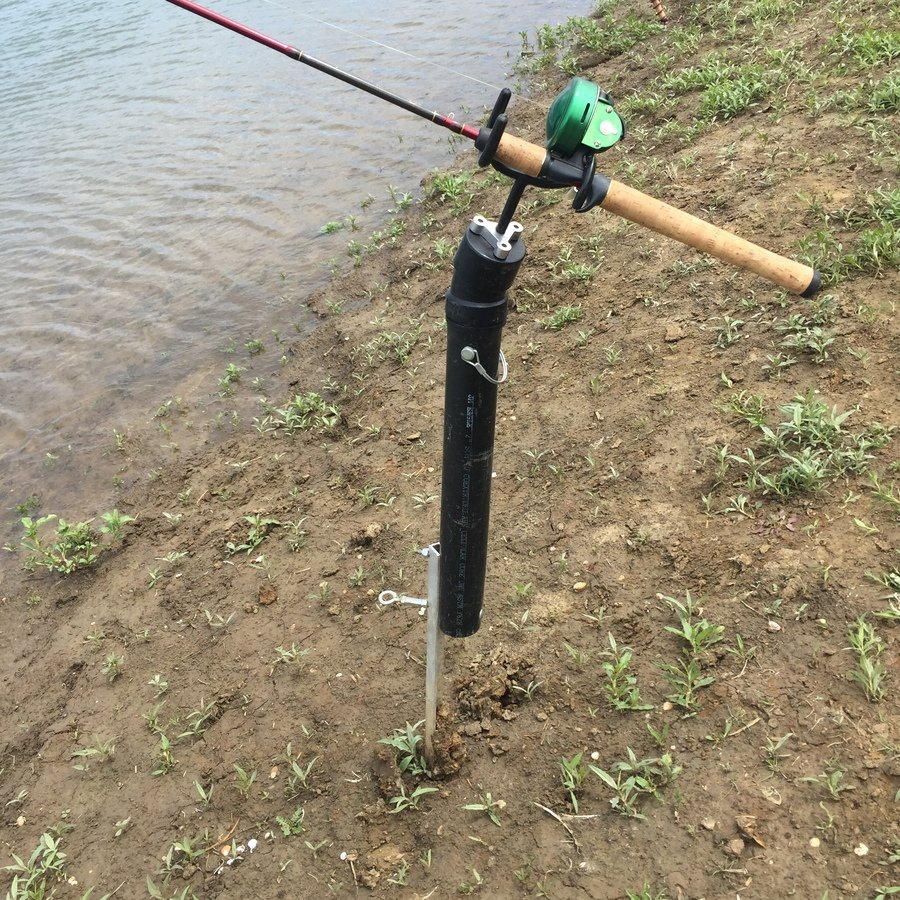 First catch of 2016 rod holders fishing talks for Fishing rod hangers