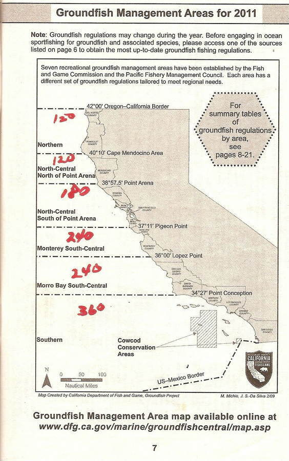 How are your fishing regulations in your part of the world for California fishing regulations