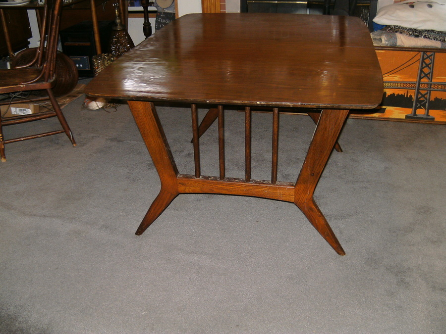 I Have A Mid Century Drop Leaf Dining Table With A Stamp Marked Lower Case ... : My Antique ...