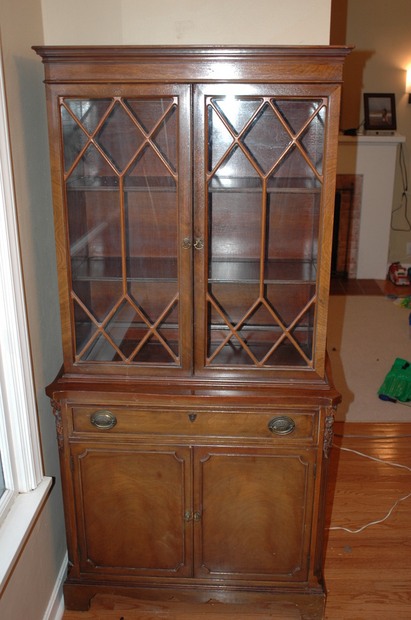 Late 1800 S Antique China Cabinet With Patent Stamp My