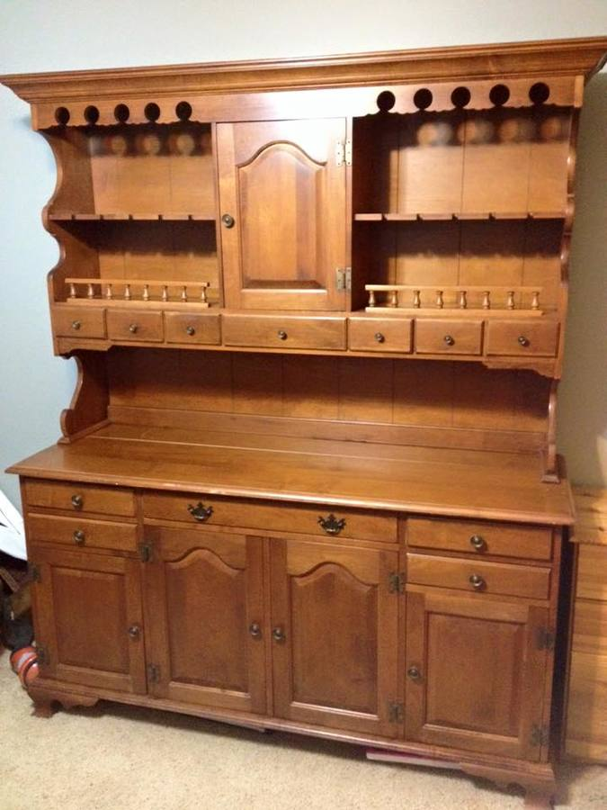 Curious On Value Sprague And Carleton Maple China Hutch 12 Drawer 5 Door My Antique