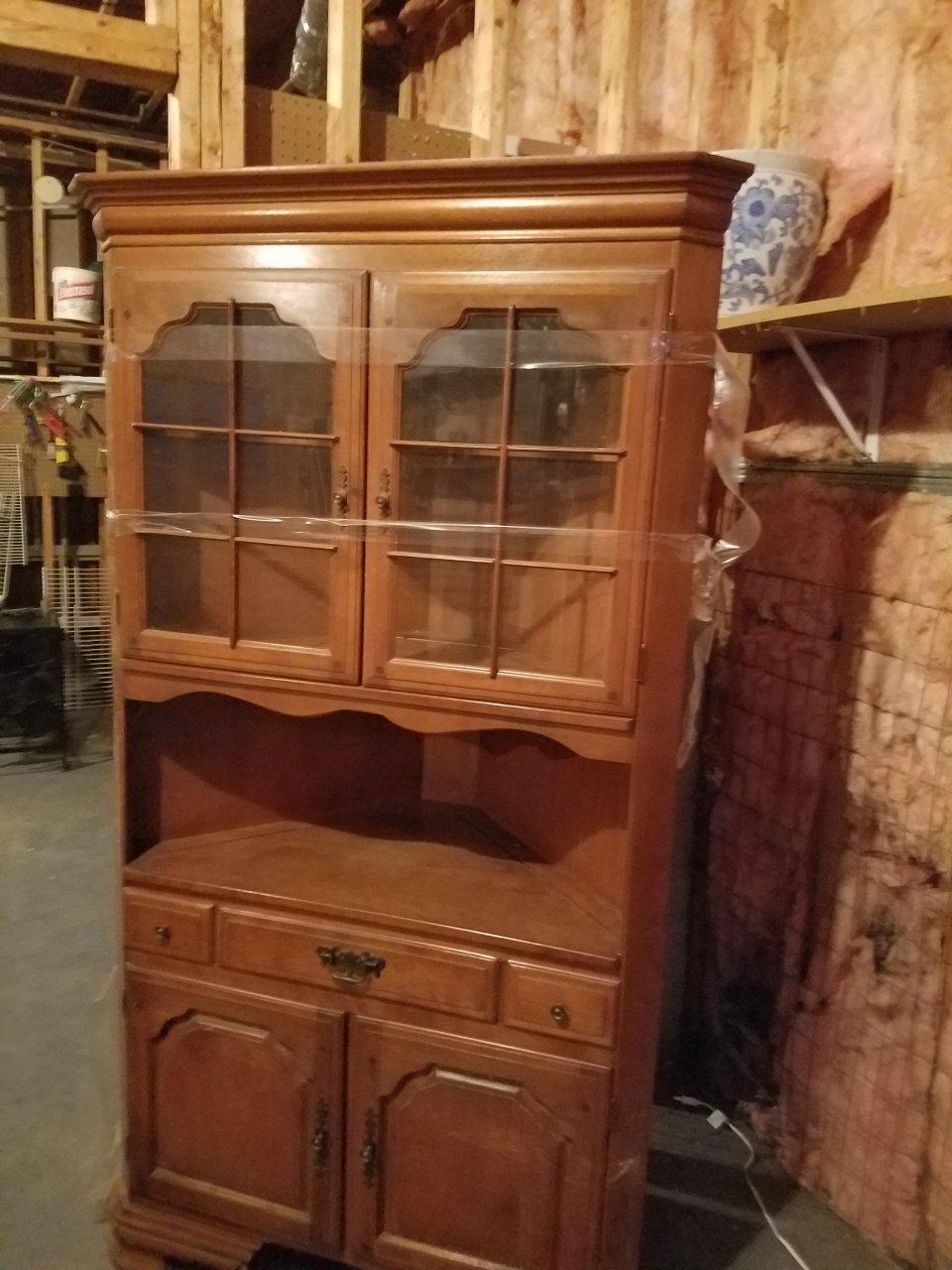 early american temple stuart corner hutch | my antique furniture