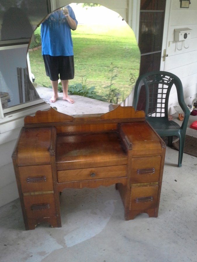 Art Deco Waterfall Vanity My Antique Furniture Collection