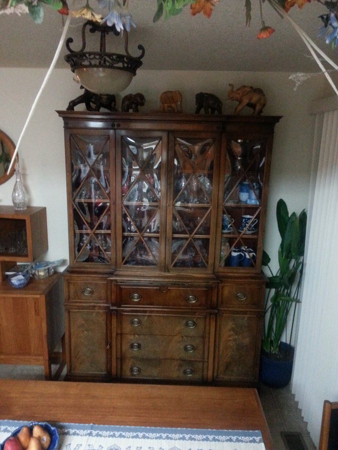 444 Saginaw Secritary China Cabinet My Antique
