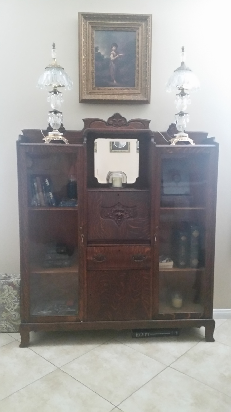 Looking for history for antique secretary desk with double for Looking for furniture