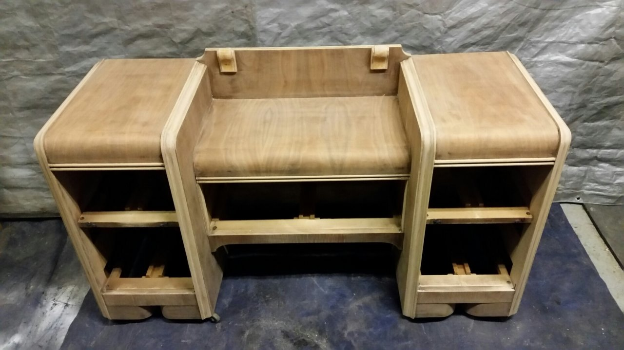 waterfall set vanity dresser and chair on metal cater