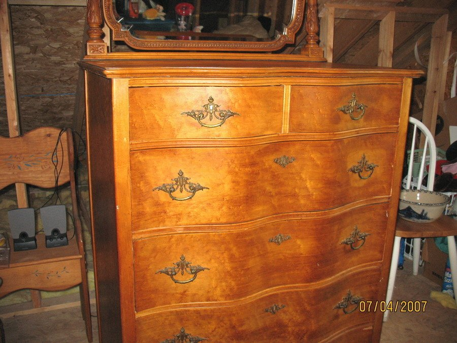 I Have A Birdseye Maple Vanity And A Large Dresser With ...