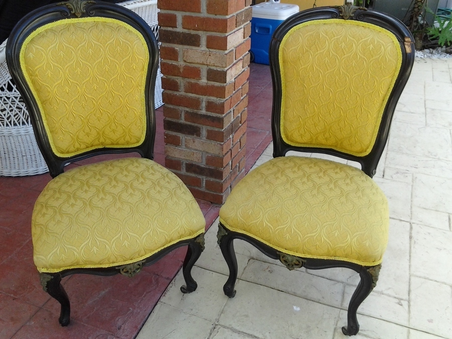 Antique chair with front leg are they called for What is a small couch called