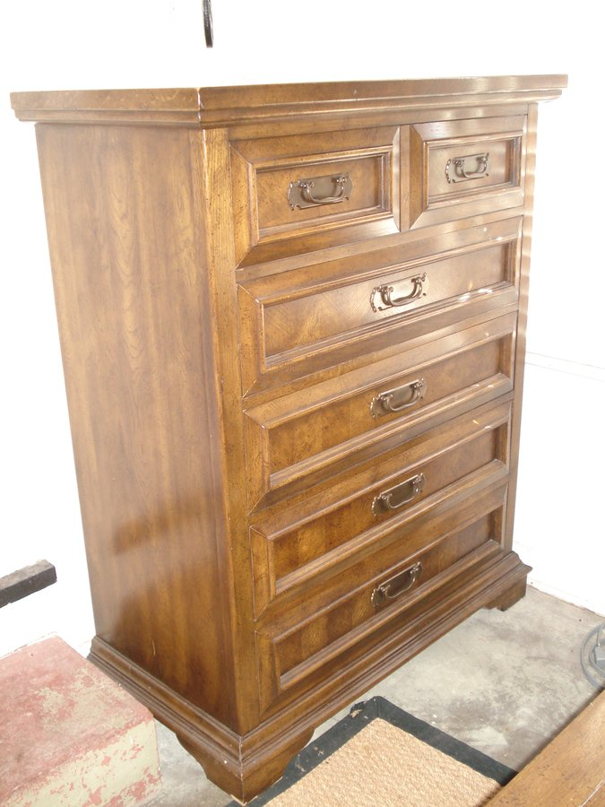 Dixie Furniture Co Rural English Chest Of Drawers And Nightstand My Antique Furniture Collection