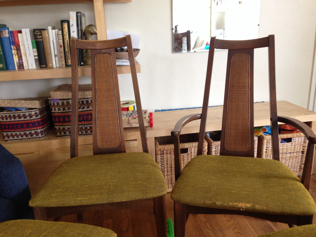 The Chairs And Table Legs Are Solid Wood, But The Table Top Is Particle  Board With A Veneer. The Chairs Have A Cool Rattan Inlay. Any Info Is  Appreciated  ...