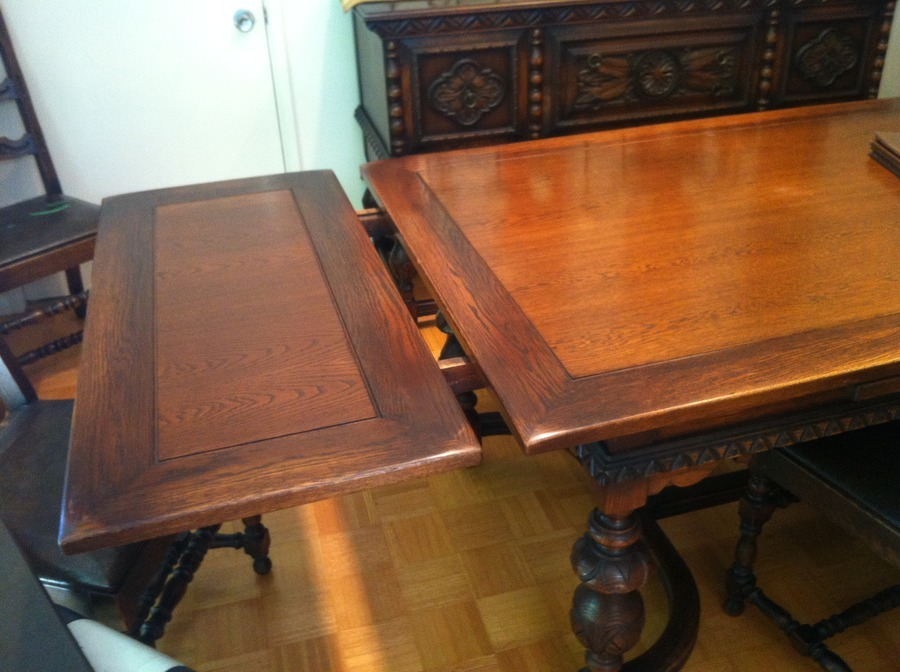 Dining Table With Leaves That Pull Out looking for some help in valuation of a depression era dining room