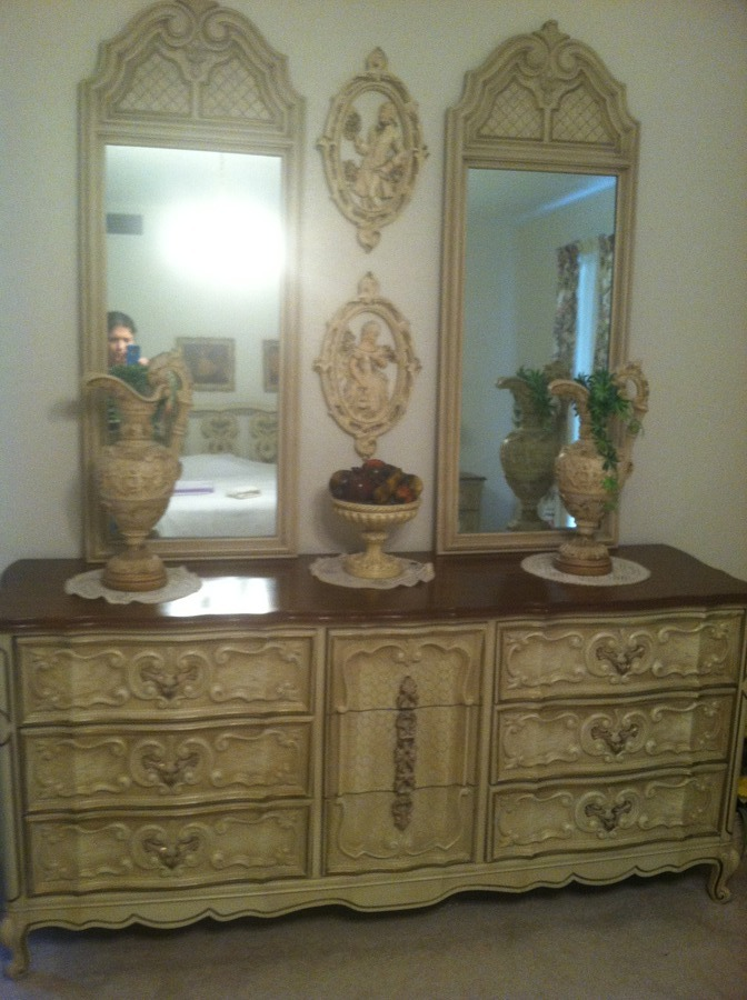 i have a bedroom set that i think its french provincial but am not really s my antique. Black Bedroom Furniture Sets. Home Design Ideas