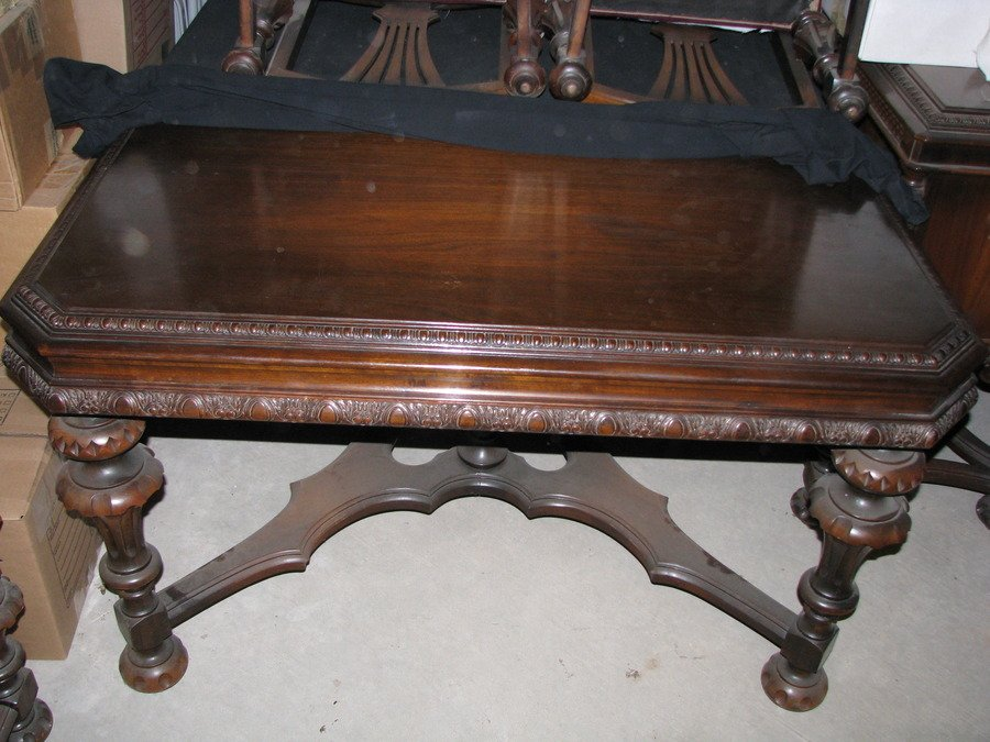 1930 s estimate Walnut Antique Dining Room Suit table W