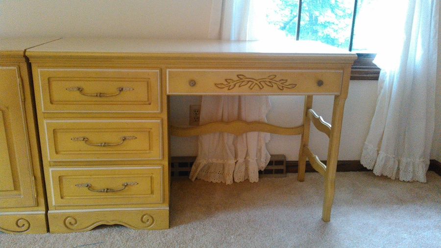 American of martinsville girls double twin bedroom set for Vintage american martinsville bedroom furniture