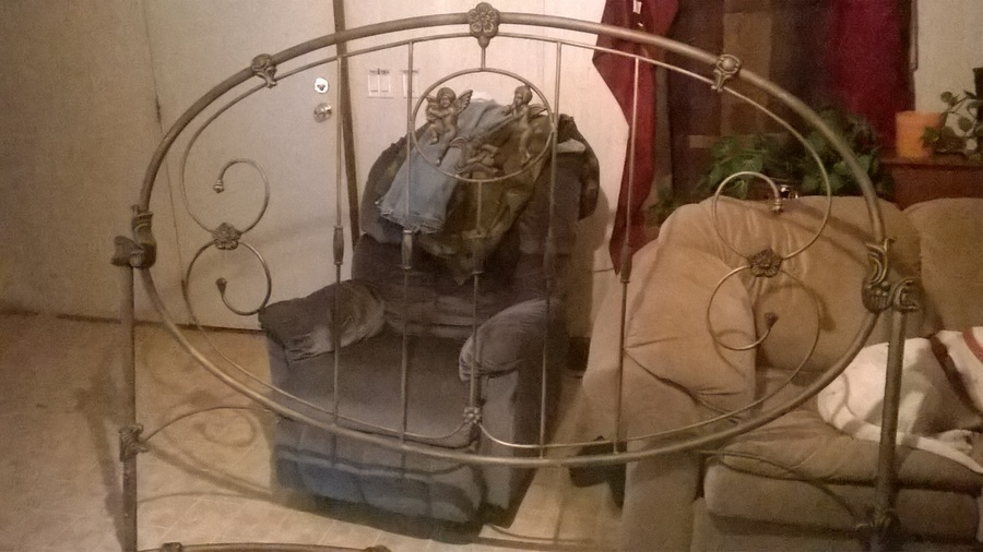King Size Cherub Cast Iron Bed From 1900 S My Antique