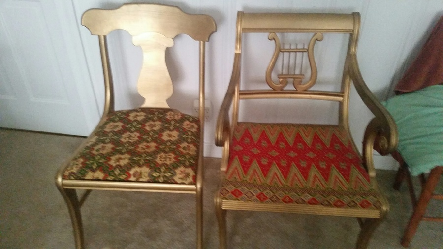 I Have 2 Harp Style Chairs. 1 Actually Has The Harp Design On The Back u0026 Th... : My Antique ...