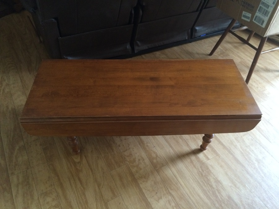 tell city drop leaf coffee table | my antique furniture collection