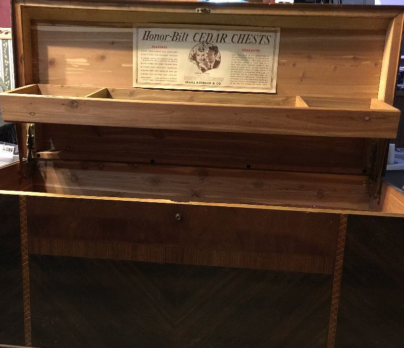 Can Anyone Help Me Identify And Price This Cedar Chest From Sears Roebuck My Antique