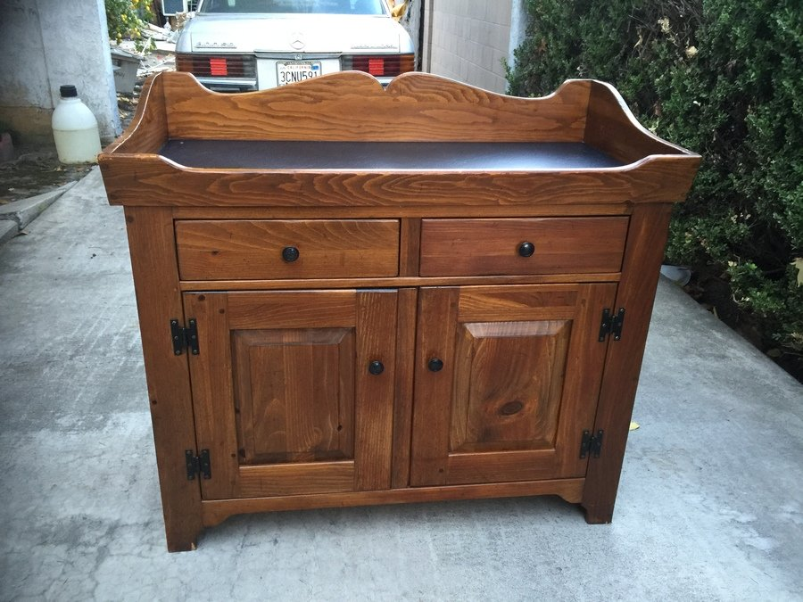 Ethan Allen Dry Sink Worth? : My Antique Furniture Collection