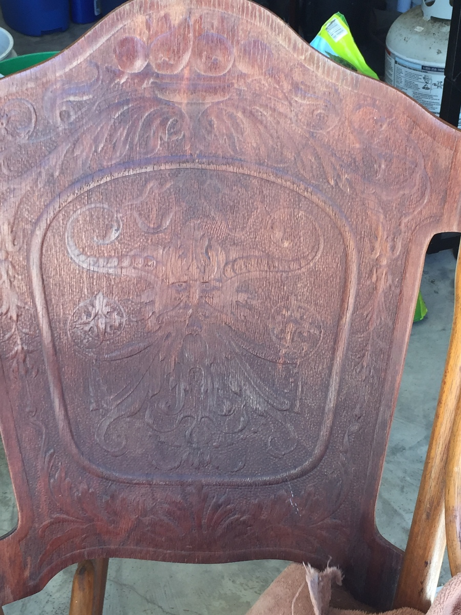 Antique rocking chair identification - Antique Rocking Chair With Carved Face Does Anyone Know Anything About This Carving Please Help Identify