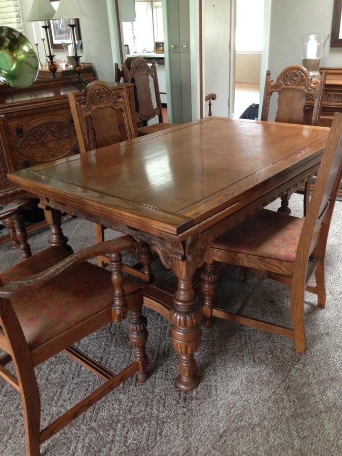 i have a dining room set i think is from the 1920's or 1930's. it