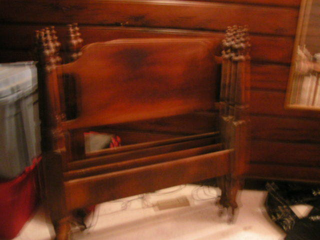 i have two twin bed frames solid wood marked famous reproduc my antique furniture collection