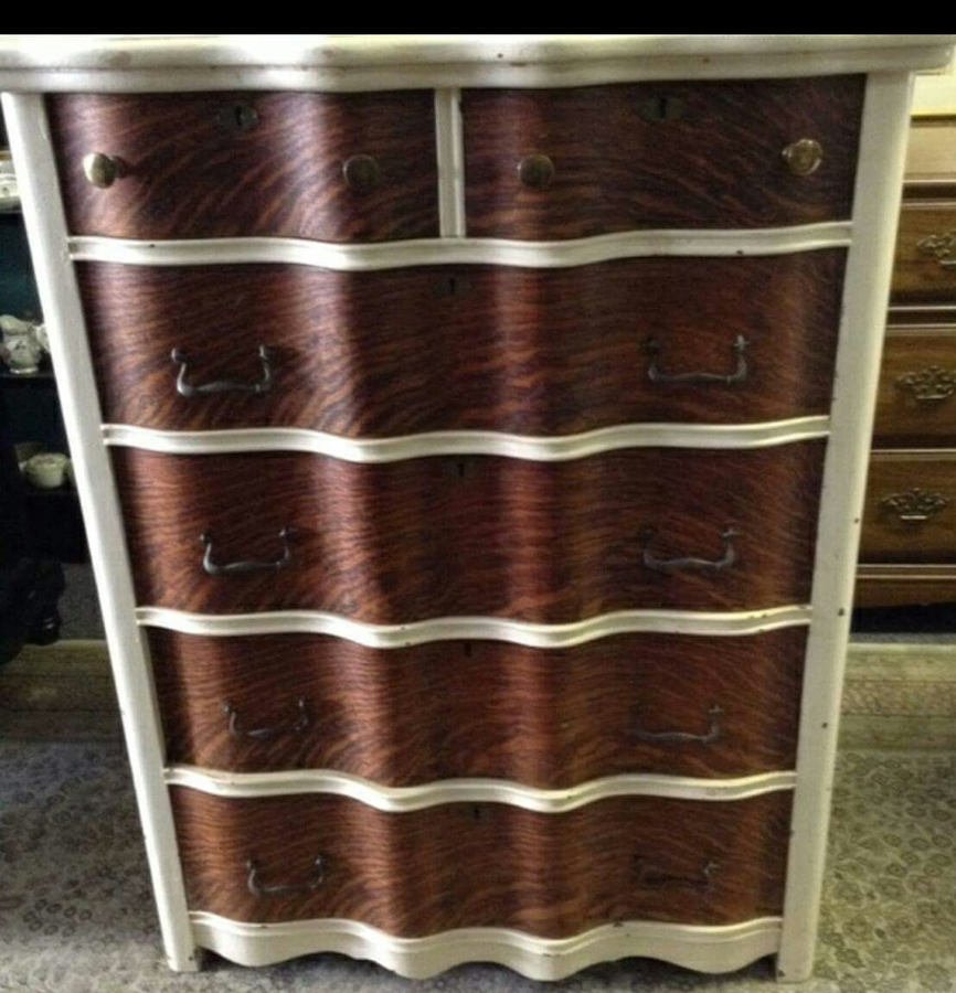 Just Picked Up This Piece With Tiger Oak Front Drawers It