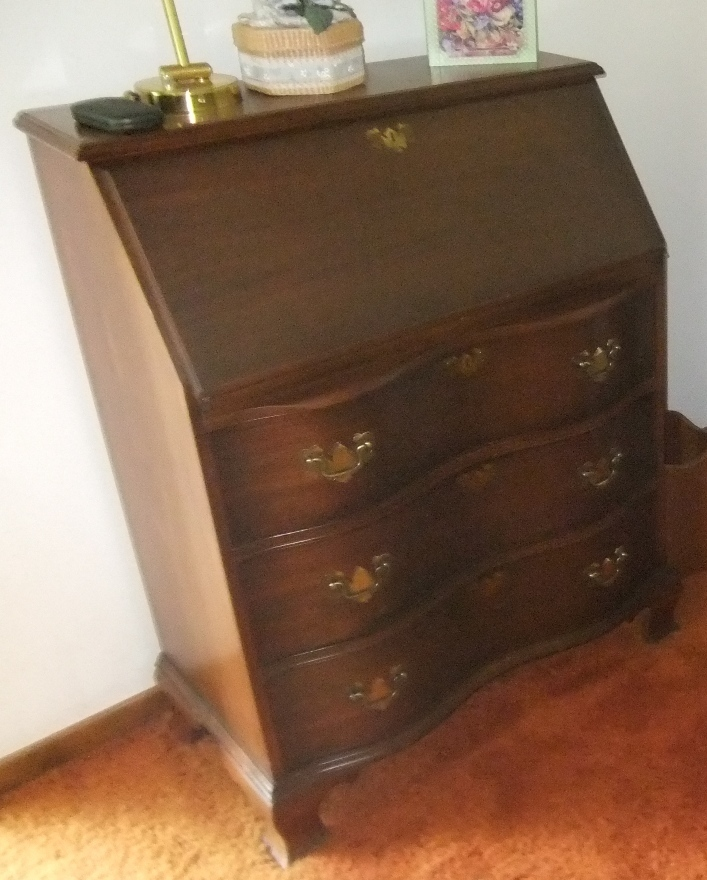 Old Secretary Writing Desk My Antique Furniture Collection