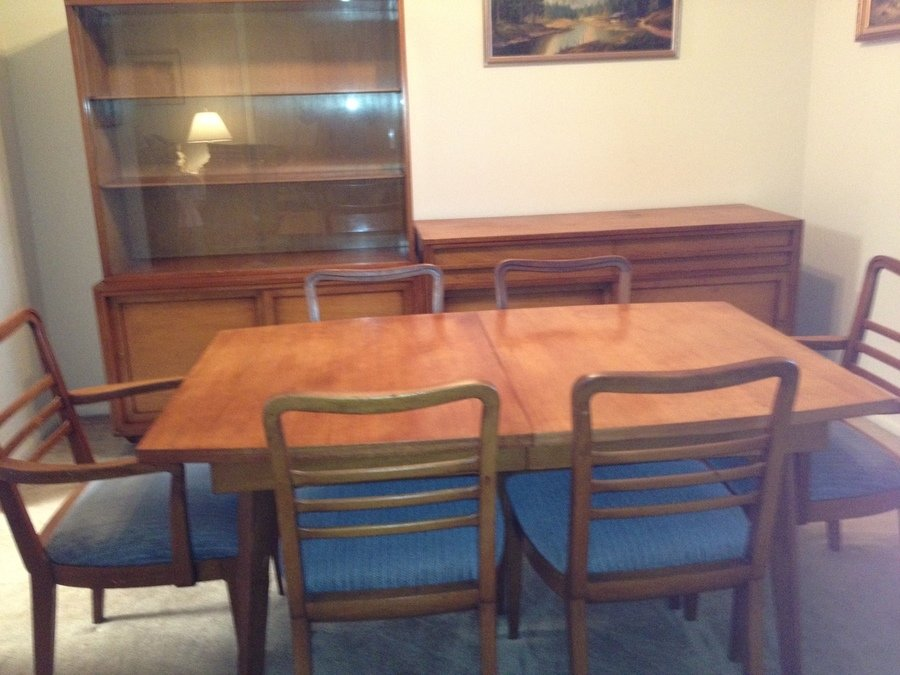 i have a 1956 rway custom made dining room table with six On r way dining room furniture
