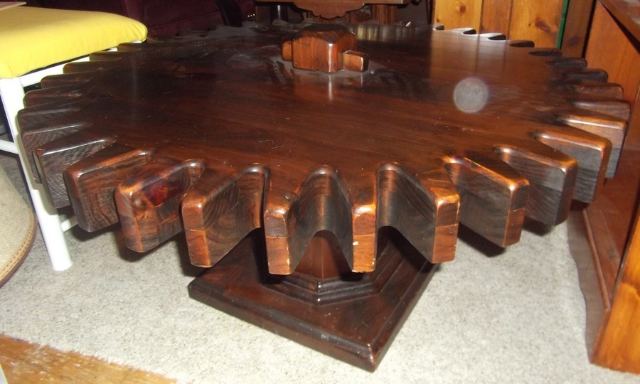 Value Of Ethan Allan Cog Wheel Coffee Table My Antique Furniture Collection