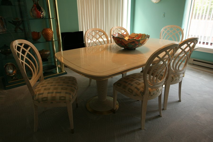 Henerdon dining room table and 6 chairs my antique for B m dining room table