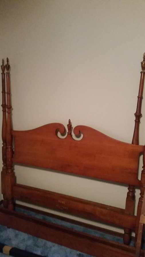 Value Maple Whitney Canopy Bed Stamped 6137 My Antique