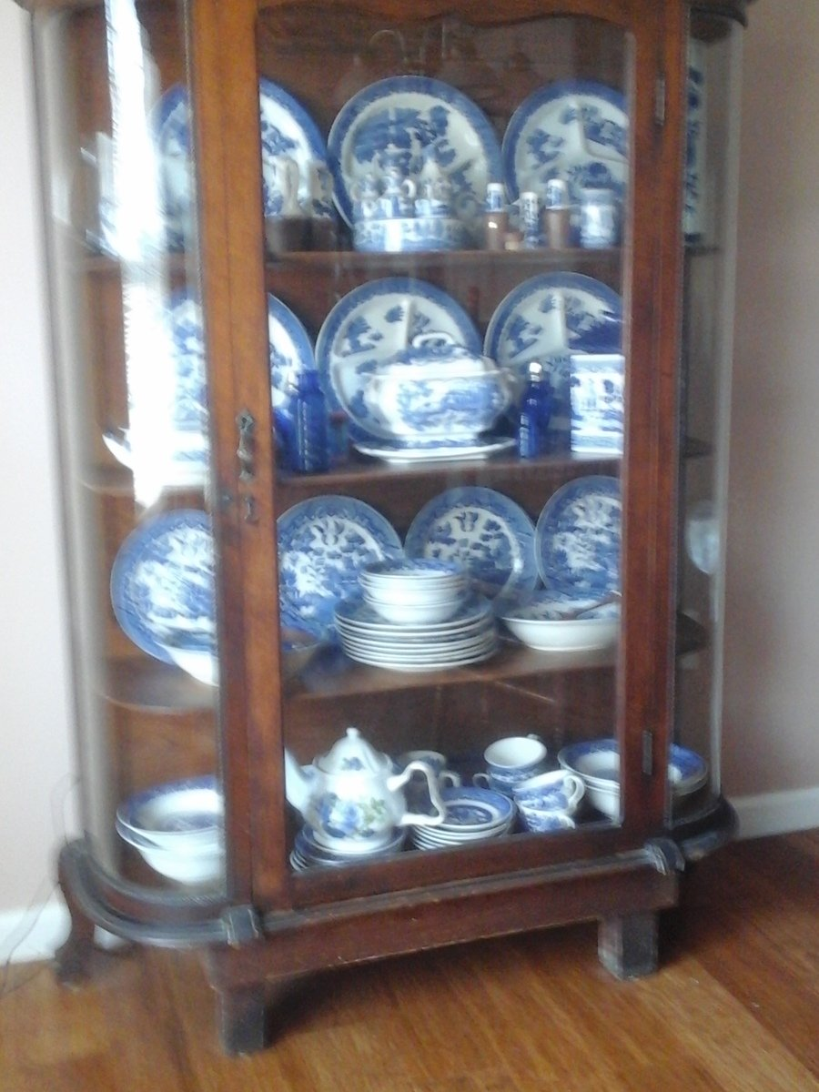 Antique Curved Glass Cabinet My Antique Furniture Collection