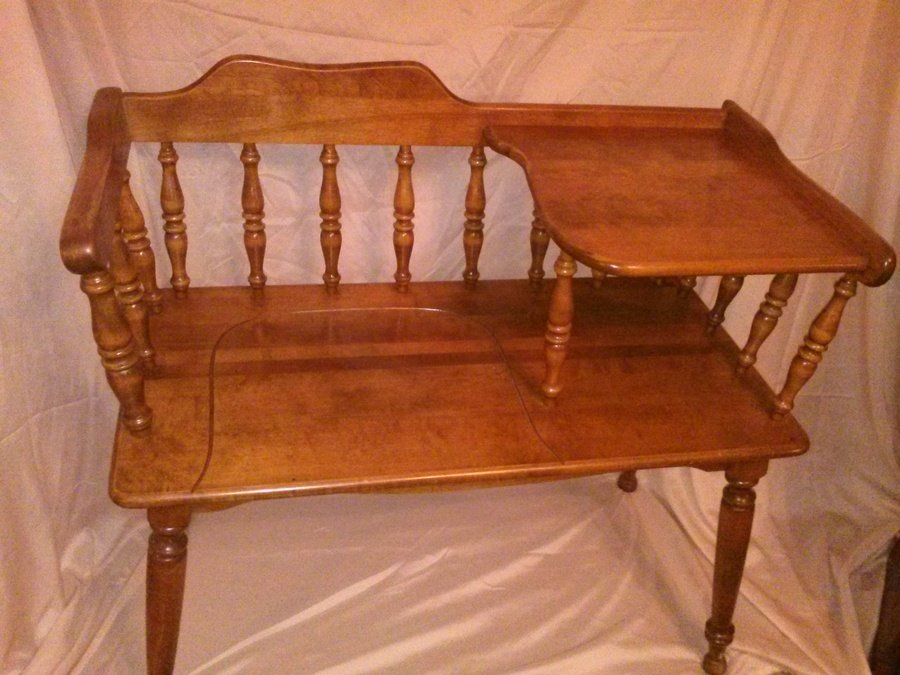 ethan allen telephone table my antique furniture collection