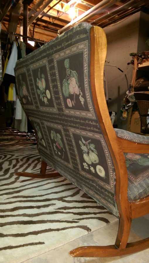 Two person rocking sofa antique vintage my