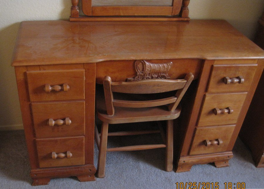 Virginia House Maple Covered Wagon Bedroom Set My Antique Furniture Collection