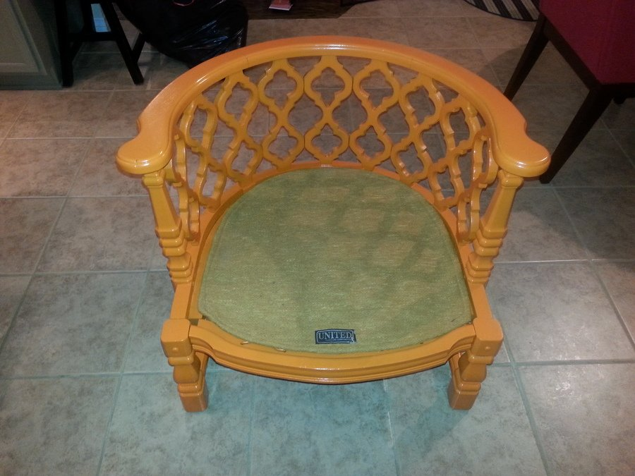 United Furniture Corp Trellis Chair My Antique Furniture