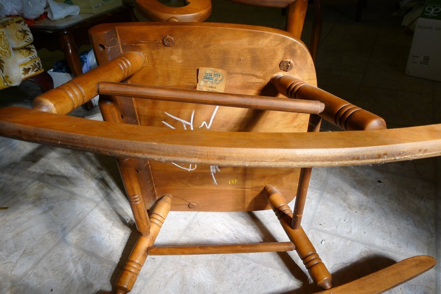 Tell City #684 1/2 Rocking Chair With Andover Finish #48  My Antique ...