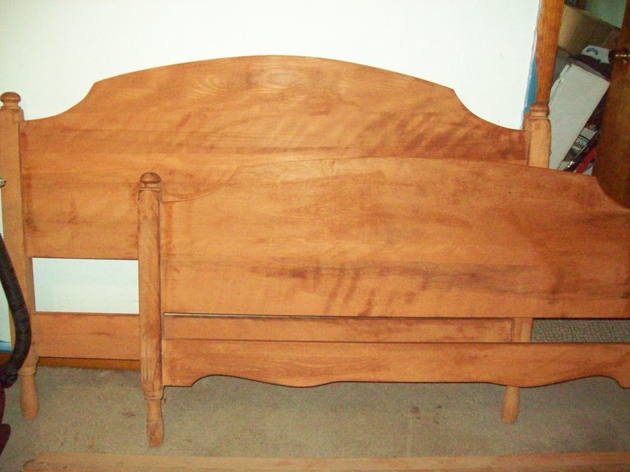 have a bedroom set made approx 1954 rock solid vermont maple was