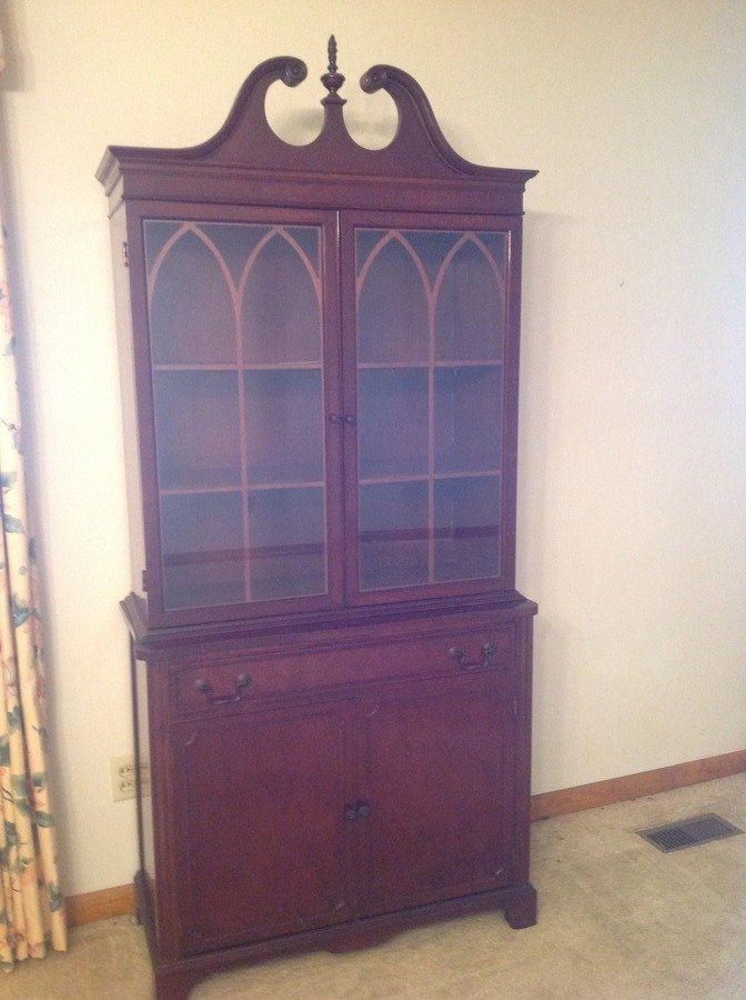 I Have A China Cabinet With Mah On The Back Would Like To Sell No My Antique