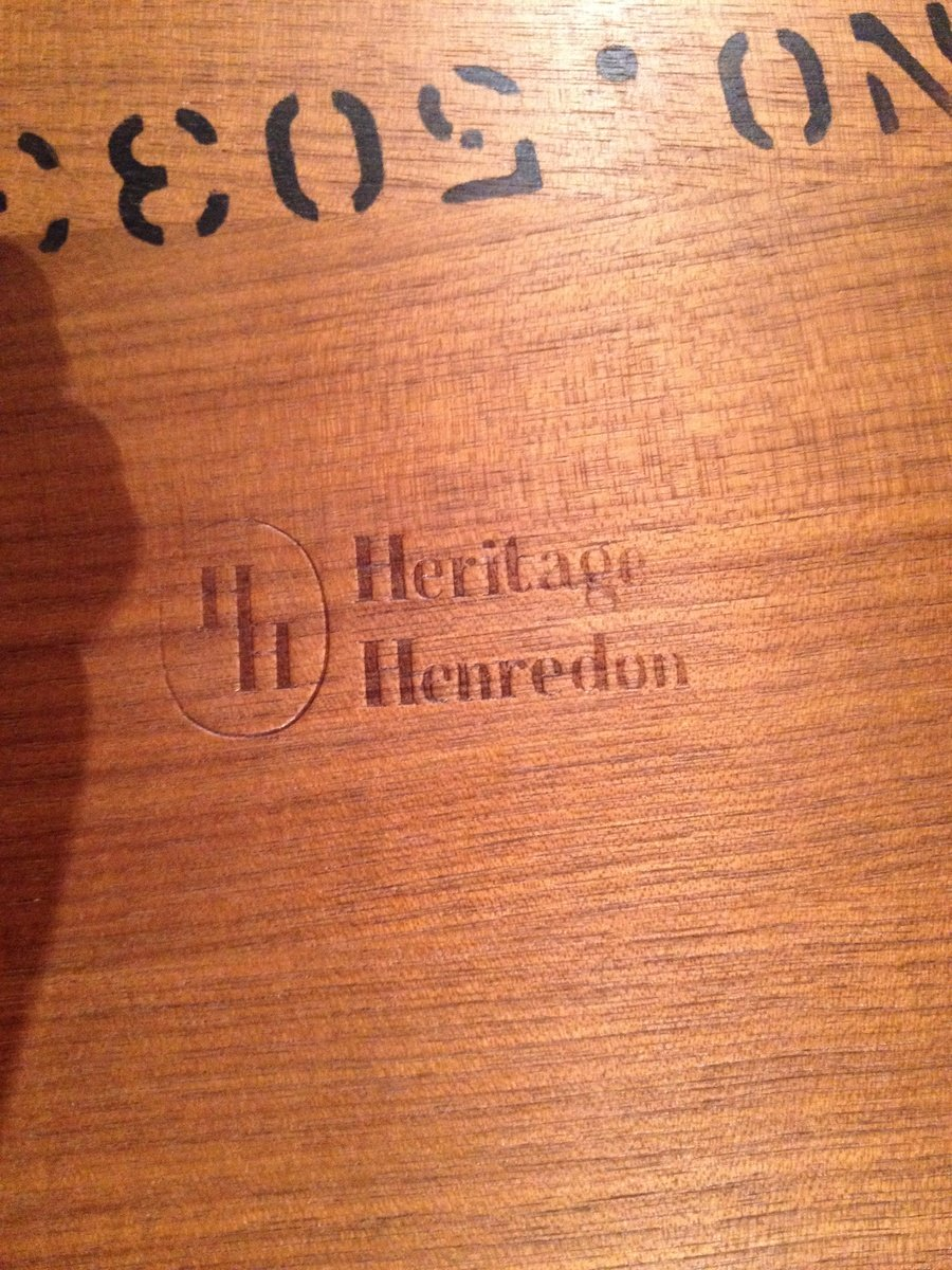 1950s Dining Room Furniture How Much Is My Heritage Henredon 195039s Danish Modern Dining Room