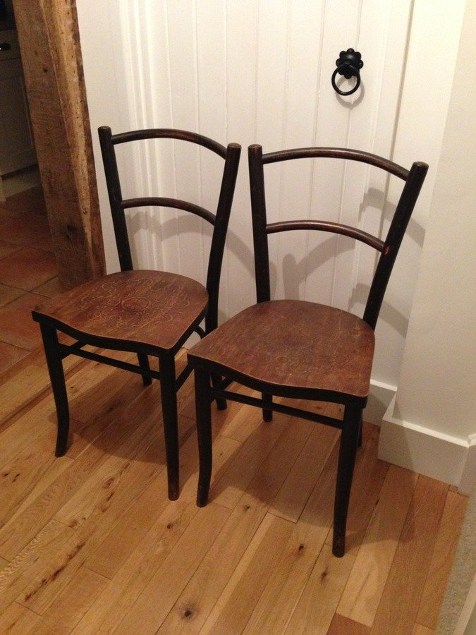 Pair Of Bentwood Chair J J Kohn Value Please My Antique Furniture Collection