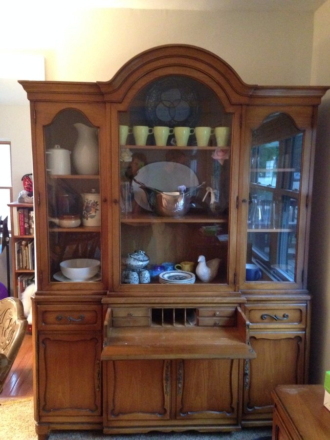 I have a 3 piece dining room set by rway my antique for R way dining room furniture