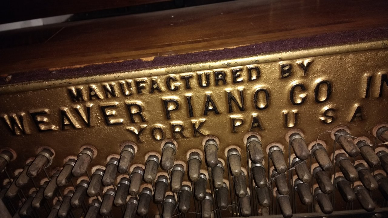 How Old Is My Newly Acquired Weaver Piano My Piano Friends